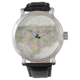Vintage Map of North Carolina (1827) Watch