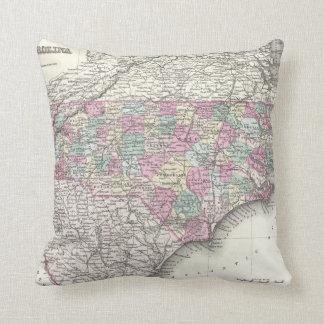 Vintage Map of North Carolina (1855) Cushion