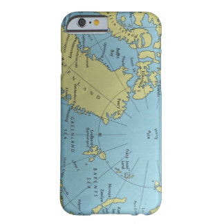 Vintage map of North Pole Barely There iPhone 6 Case