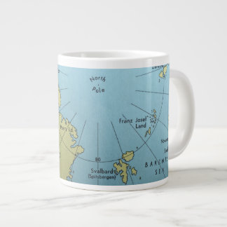 Vintage map of North Pole mug