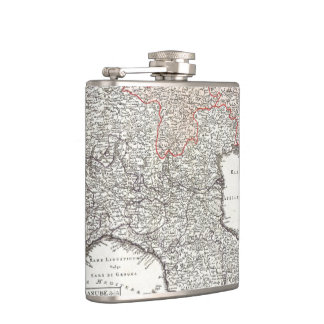 Vintage Map of Northern Italy (1720) Flask