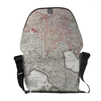 Vintage Map of Northern Italy (1720) Messenger Bag