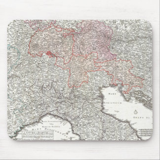 Vintage Map of Northern Italy (1720) Mouse Pad