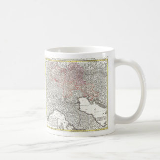 Vintage Map of Northern Italy (1720) Mug