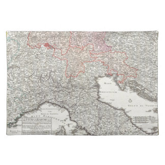 Vintage Map of Northern Italy (1720) Placemat
