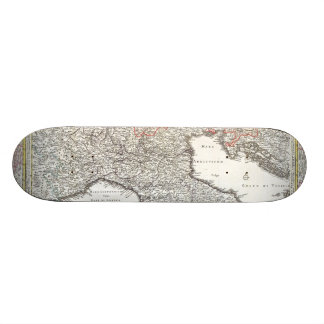 Vintage Map of Northern Italy 1720 Skateboard Decks