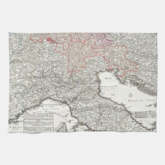 Vintage Map of Northern Italy (1720) Hand Towel