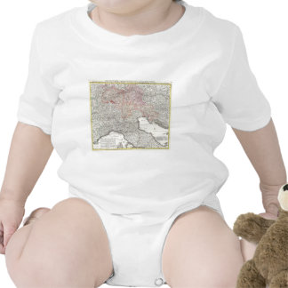 Vintage Map of Northern Italy 1720 Tshirts