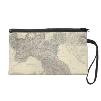 Vintage Map of Northern Italy (1861) Wristlet Purse