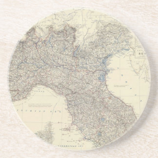 Vintage Map of Northern Italy (1861) Coasters
