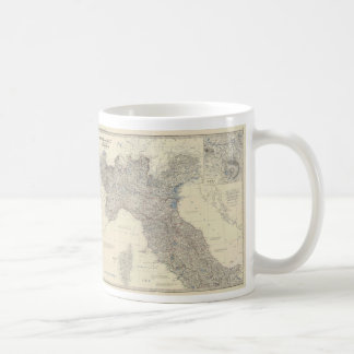 Vintage Map of Northern Italy (1861) Coffee Mug