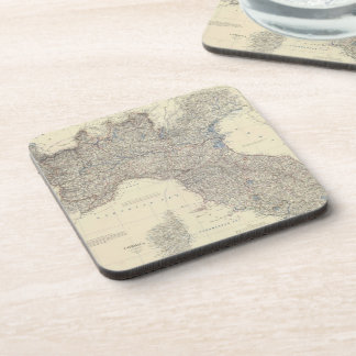 Vintage Map of Northern Italy 1861 Coaster
