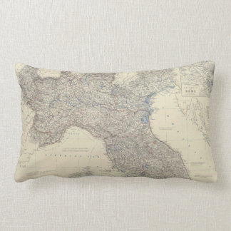 Vintage Map of Northern Italy (1861) Pillow