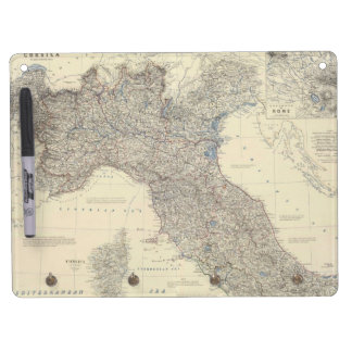 Vintage Map of Northern Italy (1861) Dry Erase Whiteboard