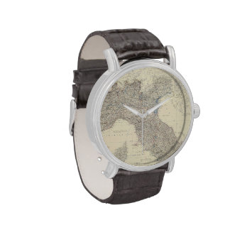 Vintage Map of Northern Italy (1861) Wristwatch