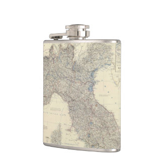 Vintage Map of Northern Italy (1861) Hip Flask