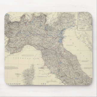 Vintage Map of Northern Italy 1861 Mouse Pad