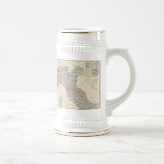 Vintage Map of Northern Italy (1861) Coffee Mugs