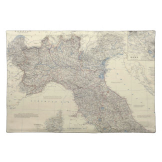 Vintage Map of Northern Italy (1861) Placemat