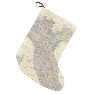 Vintage Map of Northern Italy (1861) Small Christmas Stocking
