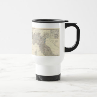 Vintage Map of Northern Italy (1861) Stainless Steel Travel Mug