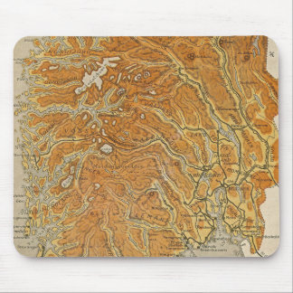 Vintage Map of Norway (1914) Mouse Pad