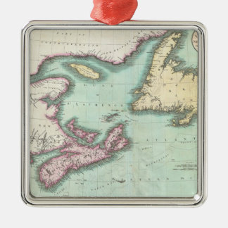 Vintage Map of Nova Scotia and Newfoundland (1807) Christmas Ornament
