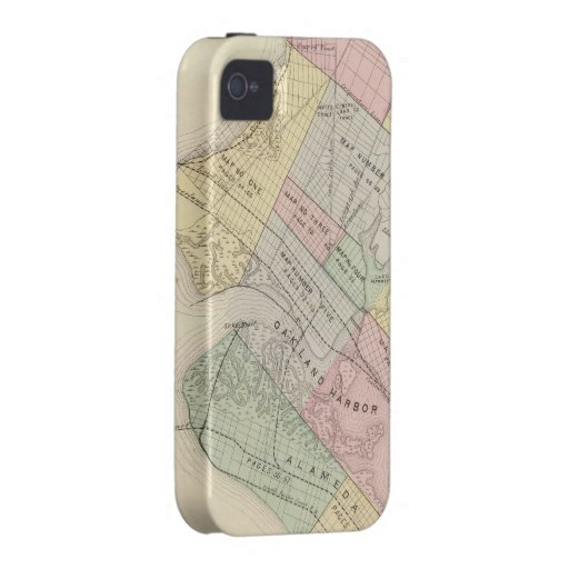 Vintage Map of Oakland California (1878) iPhone 4/4S Covers