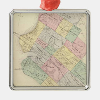 Vintage Map of Oakland California (1878) Christmas Ornament