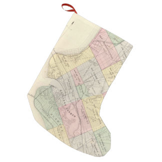 Vintage Map of Oakland California (1878) Small Christmas Stocking