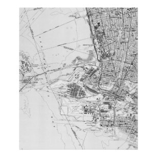 Vintage oakland posters prints zazzle uk vintage map of oakland california 1959 bw poster publicscrutiny Image collections
