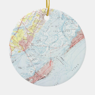 Vintage Map of Ocean City NJ (1952) Christmas Ornament
