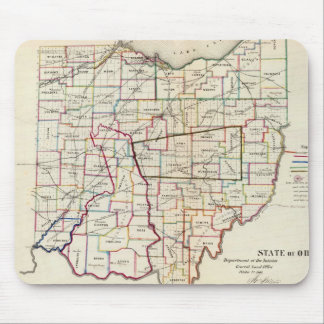 Vintage Map of Ohio (1866) Mouse Pad