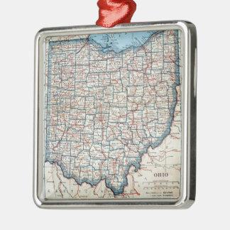 Vintage Map of Ohio (1921) Christmas Ornament