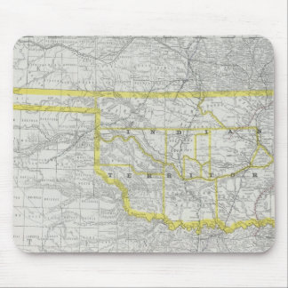 Vintage Map of Oklahoma (1889) Mouse Pad