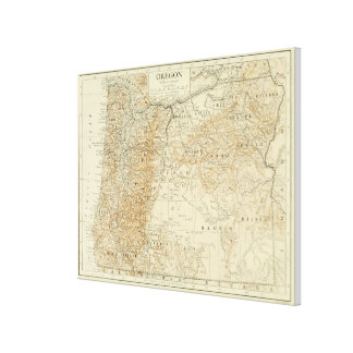 Vintage Map of Oregon (1911) Canvas Print