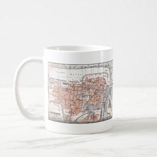 Vintage Map of Ostend Belgium (1905) Coffee Mug