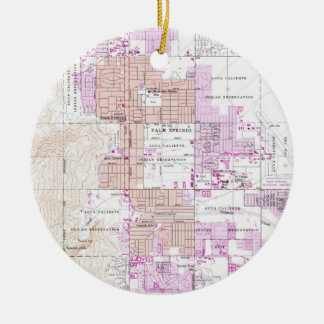 Vintage Map of Palm Springs California (1957) 2 Christmas Ornament