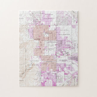 Vintage Map of Palm Springs California (1957) 2 Jigsaw Puzzle
