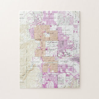 Vintage Map of Palm Springs California (1957) Jigsaw Puzzle