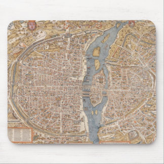 Vintage Map of Paris (1550) Mouse Pad