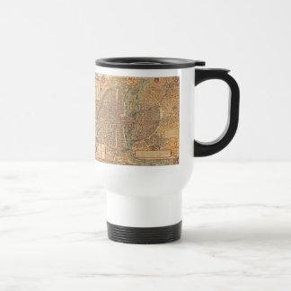 Vintage Map of Paris (1575) Travel Mug