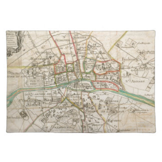 Vintage Map of Paris (1678) Placemat