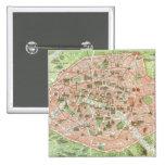 Vintage Map of Paris (1920) 15 Cm Square Badge