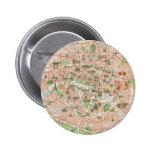 Vintage Map of Paris (1920) 6 Cm Round Badge