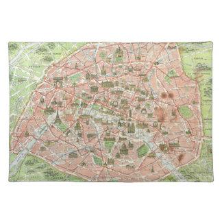 Vintage Map of Paris (1920) Placemat