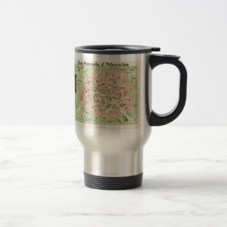 Vintage Map of Paris (1920) Travel Mug