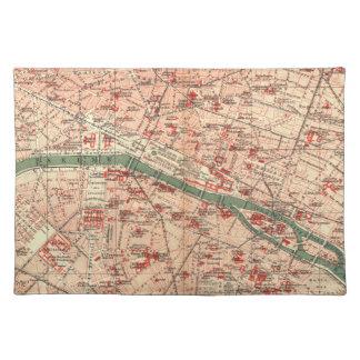Vintage Map of Paris France (1910) Placemats
