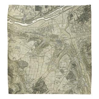 Vintage Map of Paris, France Bandana
