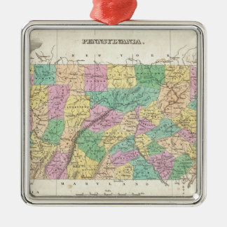 Vintage Map of Pennsylvania (1827) Christmas Ornament